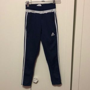 Navy blue climacool adidas pants